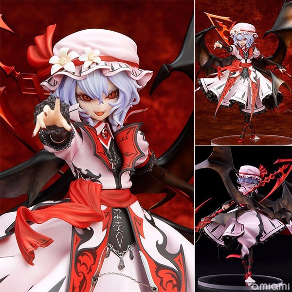 TouHou Project Action Figure Remilia Scarlet Vampire PVC Toy 240MM Anime TouHou Project Collectible Model Toy new arrival remilia scarlet griffon touhou project 1 7 scale 22 5cm action figure