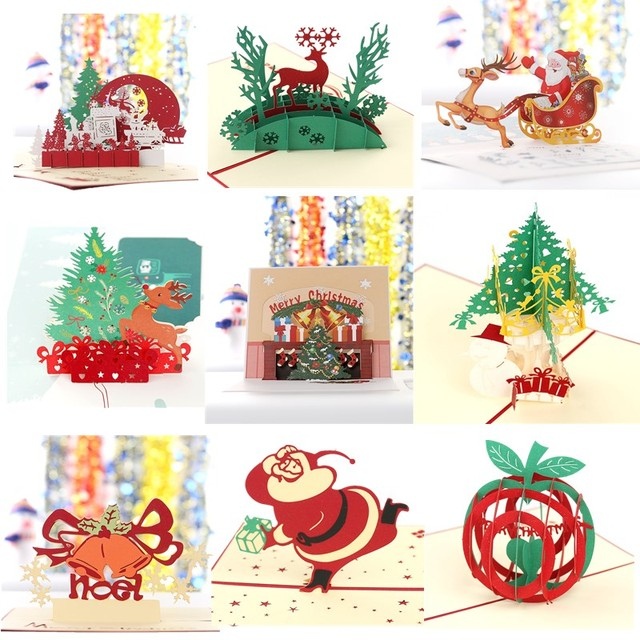 Aliexpress buy 3d pop up merry christmas greeting cards 3d pop up merry christmas greeting cards handmade with envelope laser cut post card for holiday m4hsunfo