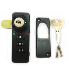 Newset 3 digits Mechanical password cabinet lock More control combination lock drawer ABS material