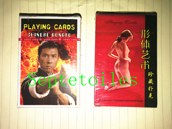 2 sets Chinese kungfu Jeet Kune do star Donnie Yen Jackie Chan Jet Li Bruce Lee poker Body nude <font><b>sexy</b></font> woman art playing cards image