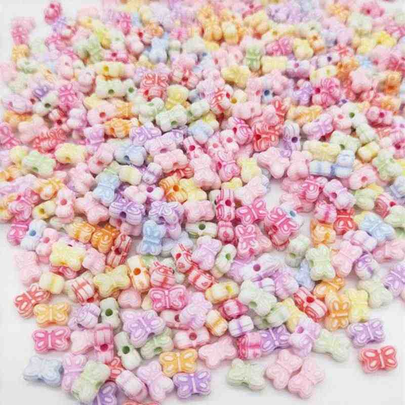 Cheap Fashion 50/100pcs Acrylic Beads DIY Flower Animal Bead for Making Bracelet Necklace Handmade Jewelry Accessories Wholesale