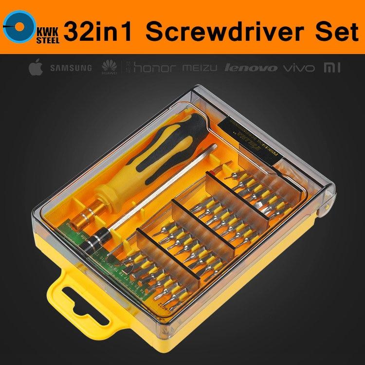 Punte cacciavite Set 32 in 1 Cacciavite di Precisione Interchangerable iPhone Laptop Cellulare PC Pad Manuale di Riparazione Kit Utensili A Mano