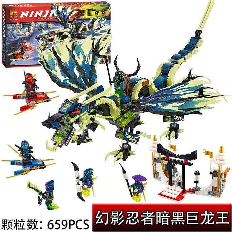 Bela 10400 Ninjagoe Ataque del Morro Dinosaurio Dragon Juguetes de los Ladrillos Bloques Juego Muchacho Compatible