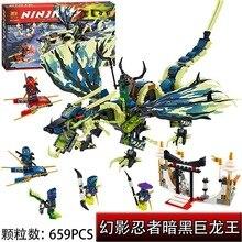 Bela 10400 Ninjagoe Ataque del Morro Dinosaurio Dragon Juguetes de los Ladrillos Bloques Juego Muchacho Compatible  Decool