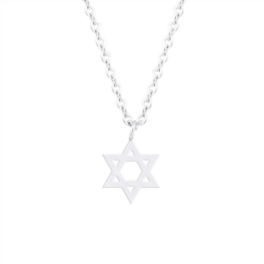 Retro ebreju rotaslietas zvaigzne Dāvida kulona kaklarota sieviešu - Modes rotaslietas - Foto 4