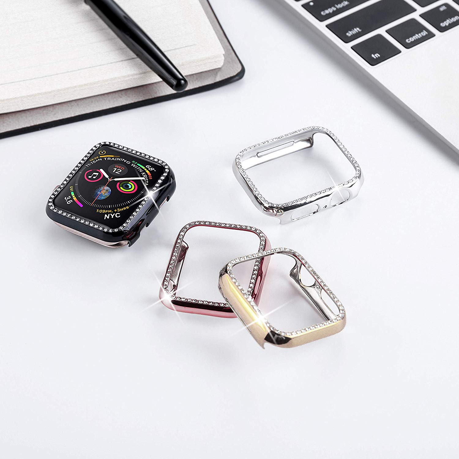 Diamond Case For Apple Watch Series 4 5 40mm/44mm  5