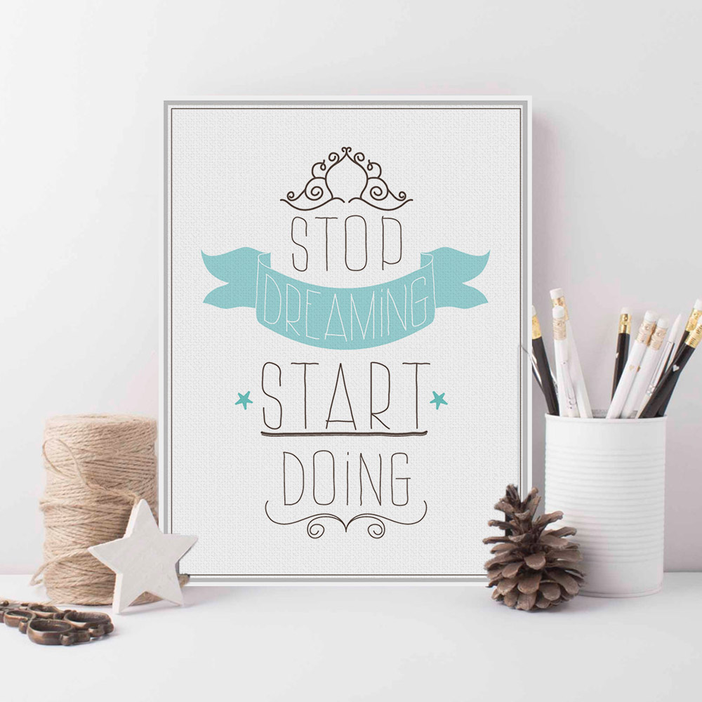 Modern White Minimalist Motivational Typography Quotes Art ...