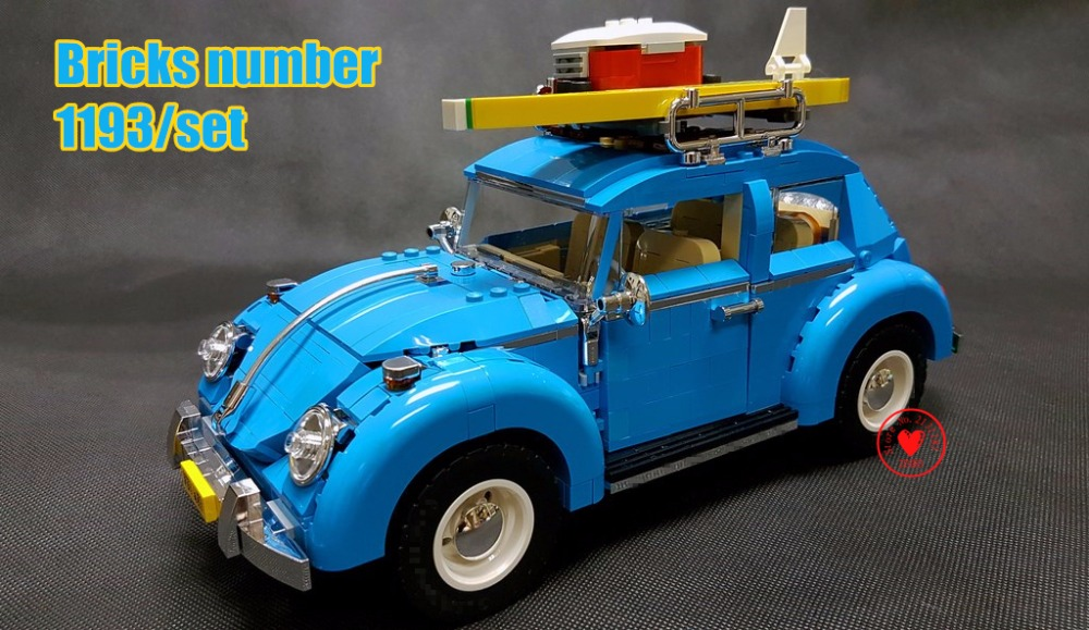 NEW City Car Beetle car model Building Blocks bricks Blue Car Toy 10252 compatible legoes technic gift kids car set creator boy lepin 21003 series city car beetle model building blocks blue technic children lepins toys gift clone 10252