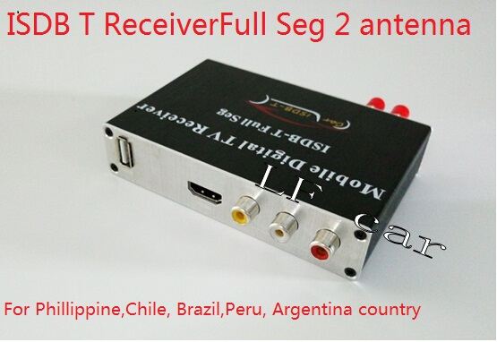 Hd Full Seg Digital Isdb-t Tv Receiver Isdbt 2 Tuner 2 Antenna Isdb-t For Philippine Chile Peru Brazil Argentina