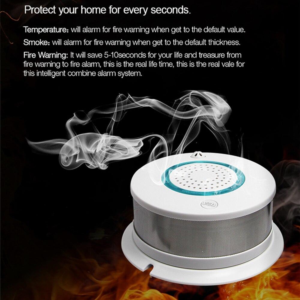 Ptps 5 pcs/lot 433 MHz sans fil détecteur d'incendie détecteur de fumée pour WIFI GSM bureau système d'alarme de sécurité à domicile système d'alarme à cadran automatique