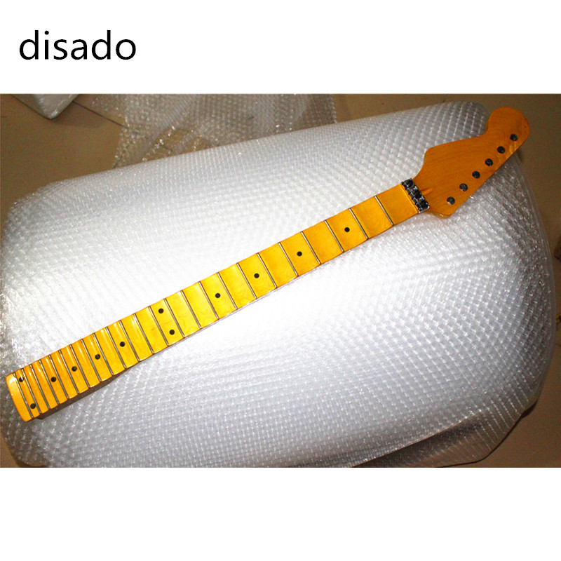 disado 24 Frets inlay dots maple Electric Guitar Neck maple fingerboard Wholesale Guitar accessories musical instruments Parts door hardware security 70 75mm cylinder interior room door lock tongue pressure lock handle lock key brass copper lock