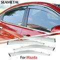 4 unids/lote Para Mazda 6 2009 2010 2011 2012 Coche Ventana Parasol Cubre protección contra la Lluvia Toldo Exterior Decoración Auto accesorios