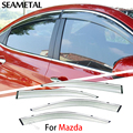 4pcs/lot For Mazda 6 2009 2010 2011 2012 Car Window Visor Sun Rain Shield Covers Awning Exterior Decoration Auto Accessories