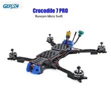 GEPRC Crocodile 7 Pro Long Range FPV Drone 315mm Frame 2306 1600kv motors DALProp T7056C Props Runcam Micro Swift FPV Camera