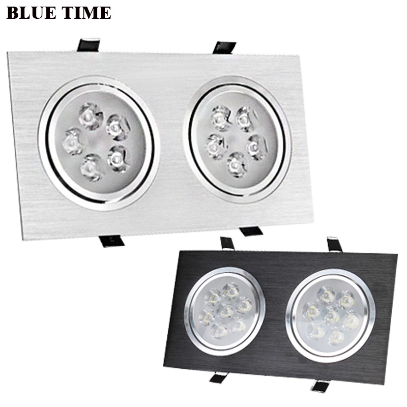 10w led spotlight 2pcslot double slider 2x5w spotlighting ac85 265v ceiling ceiling spot lighting