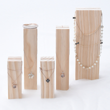 Creative Solid Wood Jewelry Display Holder Pendant Earrings Necklace Bracelets Display Stand
