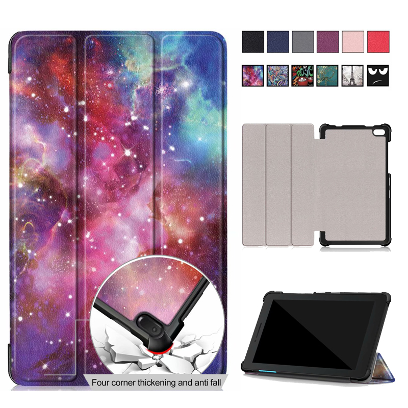 Slim Magnetic Folding cover case For Lenovo Tab E7 E 7 TB 7104F Protective Cover PU Leather case funda For Lenovo Tab E7 case|Tablets & e-Books Case| |  - title=