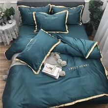 Home Textile Bedding Sets Adult Bedding Set Bed White Black Duvet Cover King Queen Size Quilt Cover Brief Bedclothes Comforter