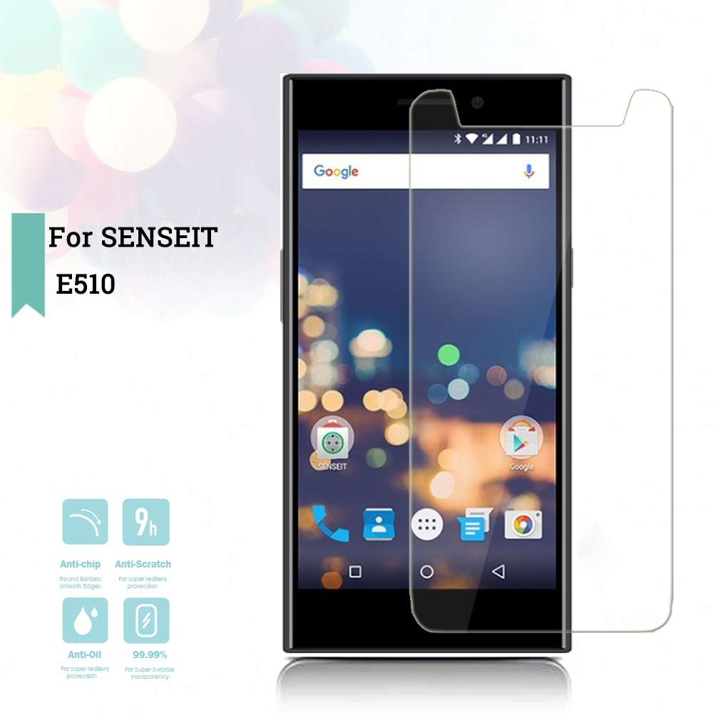 2.5D 0.26mm Ultra Thin Tempered Glass SENSEIT <font><b>E510</b></font> Toughened Protector Film Protective Screen Case <font><b>Cover</b></font> Universal image