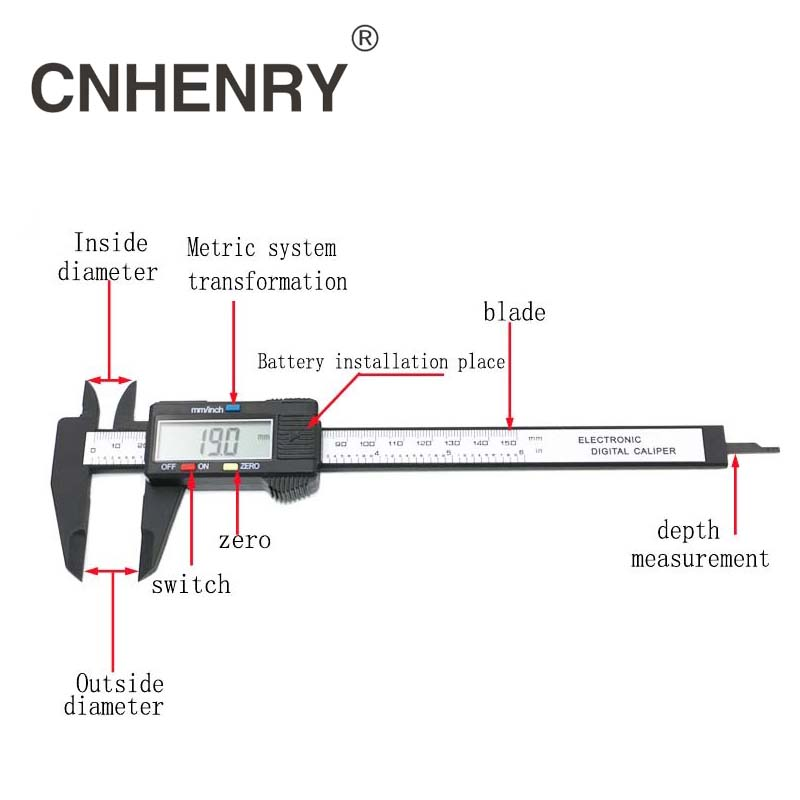 0-150 mm-es 6 hüvelykes LCD elektronikus mérőkészülék - Mérőműszerek - Fénykép 4