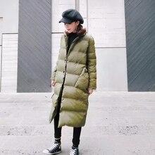 2016 зимняя мода свободные вниз хлопка-ватник утолщение письмо вышивка средней длины ватные куртки верхняя одежда женский