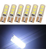 5PCS T10 Led Bulb 2W LED Car Lamp 194 W5W Canbus 6SMD 5050 Silicone Shell No