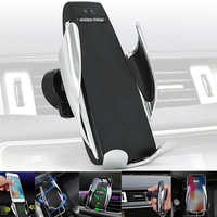 Car QI Wireless Car Charger Original S5 Air Vent Automatic Clamping Charging Holder 360 Degree Rotation For iPhone Samsung