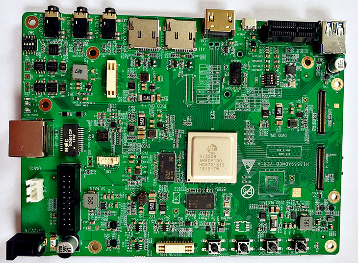 For HSI development board Hi3559A panoramic assembly support H264H265 encoding 8K send SDK PCB and schematic diagram
