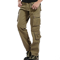 2019 Winter Fleece Mens Military Cargo Pants Multi pockets Baggy Warm Men Cotton Pants Casual Overalls Army Tactical Trousers