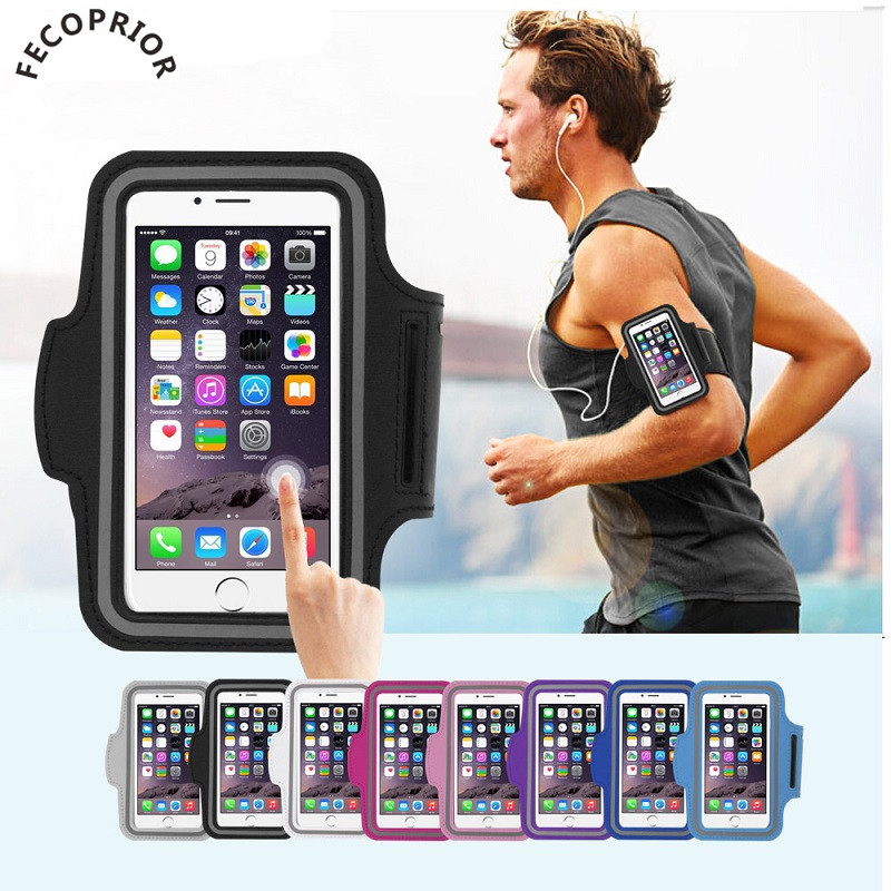 Fecoprior Armband for <font><b>iPhone</b></font> 8 7 <font><b>6S</b></font> <font><b>6</b></font> iPhone8 4.7 Sports Case Running Belt Cover Outdoor Bags GYM Bracelet Bolsa Brassard <font><b>Baseus</b></font> image