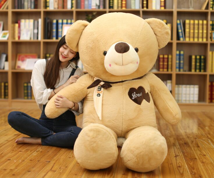 fillings toy huge 140cm love bear plush toy pink teddy bear soft doll hugging pillow Christmas gift b1985 huge 120cm pink teddy bear plush toy soft throw pillow christmas gift h2859