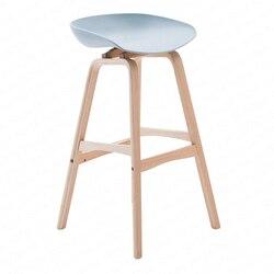 Europejski kreatywny krzesło barowe nowoczesny minimalistyczny podnośnik Bar z litego drewna z przodu krzesło biurowe stołek barowy domu mody wysoki stołek