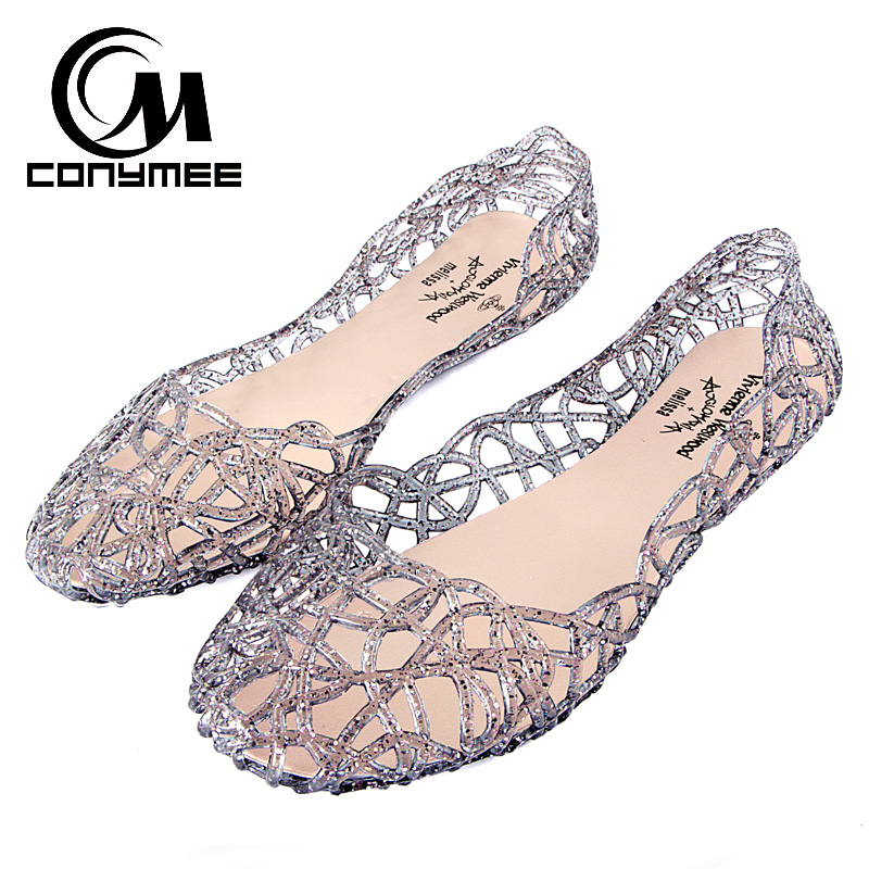 CONYMEE 2018 Women's Summer Sandals Casual Jelly Shoes Crystal Tenis Feminino Flats Sandalias Femininas Beach Bling Sandals Shoe 2016 women red sole shoes woman gladiator shoe square low heel sandals ladies summer sandal sandalias femininas tenis feminino