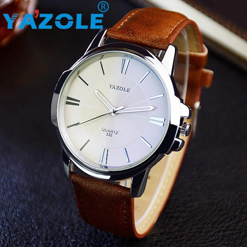 YAZOLE 2017 Fashion Quartz Watch Men Watches Top Luxury Male Clock Business Mens Wrist Watch Hodinky Relogio Masculino #A86