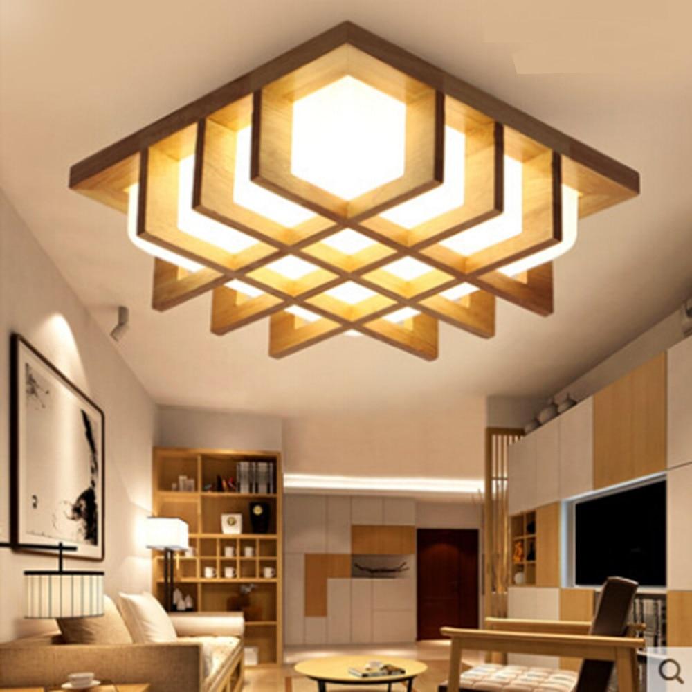 US $145.0 |Die Nordic minimalistischen schlafzimmer Decke Lichter LED lampe  holz veranda holz Decke lampe raum decke montieren led licht YA72624-in ...