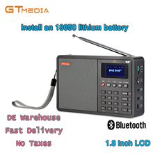 Portable Professional Radio GTMedia D1 DAB+Radio Stero Support Sleep For UK EU With Bluetooth Built-in Loudspeaker
