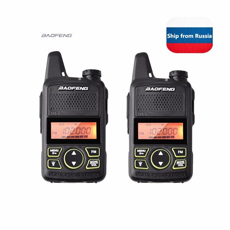 2pack/lot  Baofeng BF-T1 Mini Walkie Talkie UHF 400-470MHz Ham Radio Station Ptt Handheld FM Portable Pofung Bf T1 Two Way Radio