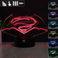 Batman LOGO 3D Night Light RGB Changeable Mood Lamp LED Light DC 5V USB Decorative Table Lamp Get a free remote control Baby Sle