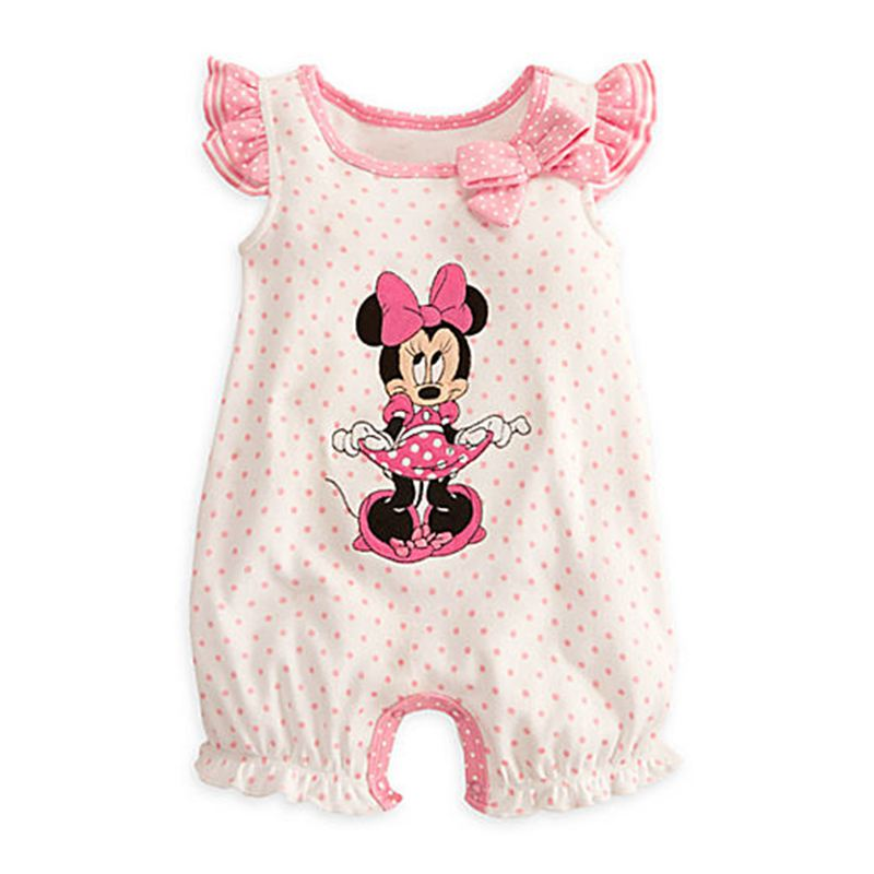 Summer 2017 Fantasia Minnie One Piece Jumpsuit Baby Girl Romper Body Infant Clothing Roupa Infantil Macacao Ropa Bebe Menina