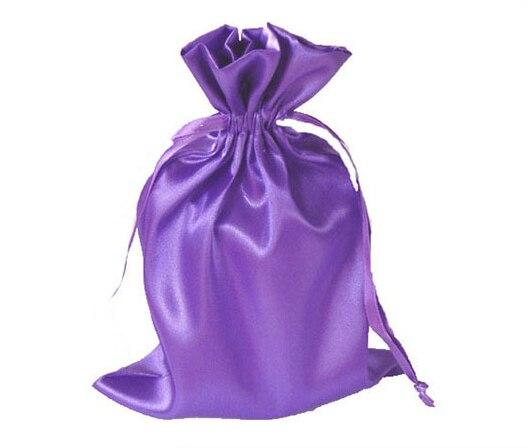 100 piezas CBRL pequeñas bolsas de satén con cordón bolsas de joyería de satén bolsas de regalo de satén bolsas con logotipo personalizado bolsa de regalo-in Envase y exposición de joyería from Joyería y accesorios    1