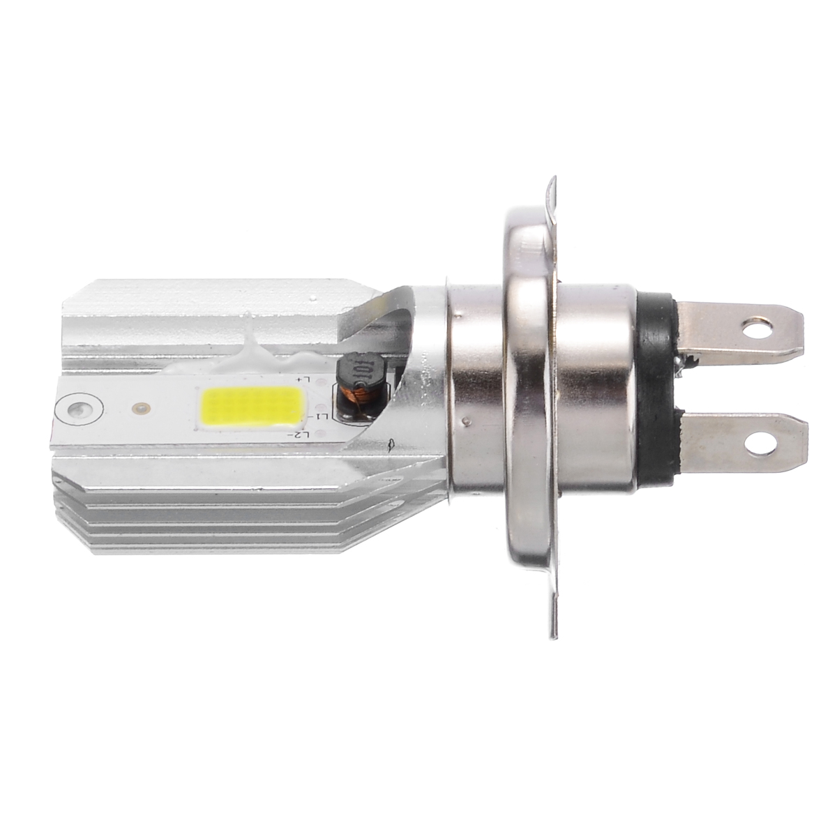 Image 4 - 1pc DC12V H4 LED Motorcycle Motorbike Headlight Moto Fog Light Lamp Single sided Bulb 800 2000LM 6000K For Moped Scooter ATV