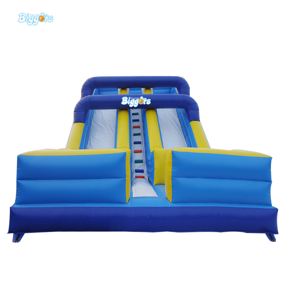 PVC Tarpaulin Excellent Quality Double Slide Inflatbale Castle Inflatable Double Lane Water Slide 7lx4wx4h commercial pvc tarpaulin double lane kids giant inflatable slide for sale