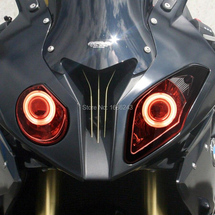 Фара мотоциклиста подходит для BMW S1000RR 2009 2014 светодиодный HID Белый Ангел глаз красный демон глаза проектор фары сборка на заказ
