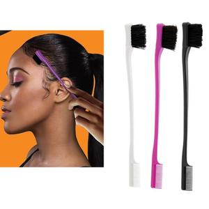 Image 1 - 1Pc Beauty Double Sided Edge Control Hair Comb Hair Styling Hair Brush 3 Colors to Choose