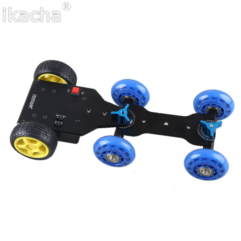Mobile Rolling Sliding Dolly Stabilizer Skater Slider + Motorized Push Cart Dolly Tractor for GoPro 5 4 3+ 3 2 1 new 4 wheels mobile rolling sliding dolly stabilizer skater slider motorized push cart tractor for gopro 5 4 3 3 2 1 camera