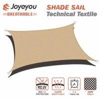 Joyeyou Retângulo removível de Lona Ao Ar Livre Velas Sol Sombra Cobertura de Pano Toldo Dossel para Decks Varanda Jardim Do Quintal|Toldo| |  -