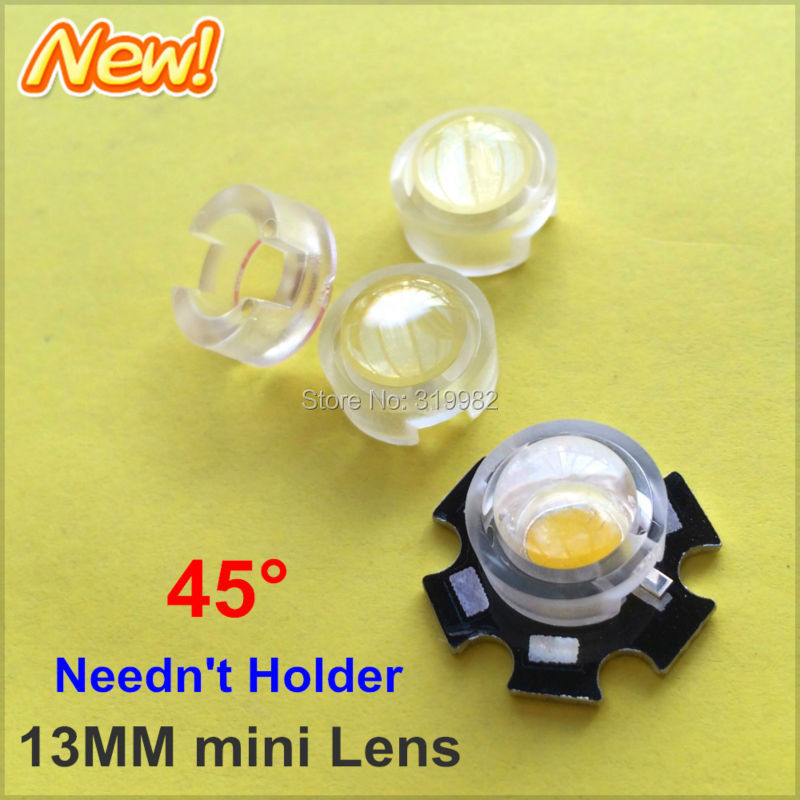 100X 13mm IR LED mini Lens angle 45 Degree Neednt Holder 1W 3W Infrared monitoring High Power Reflector Collimator