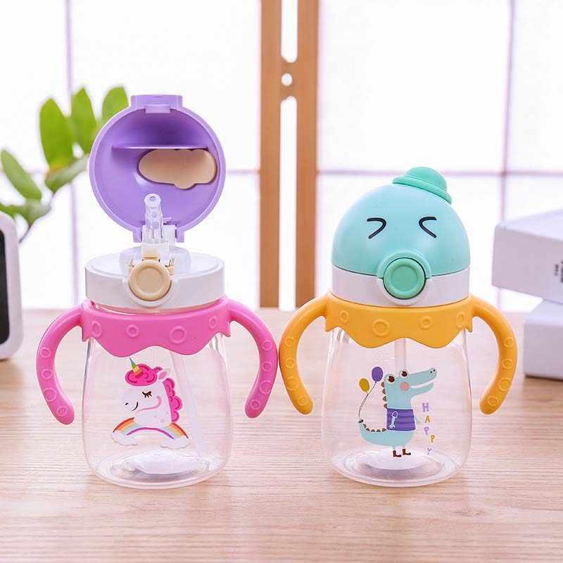350/450 ML שלי ילדים מים האכלת בקבוק ילדי קריקטורה ארנב Drinkware תה קפה חלב מתוק בקבוק ילד יום הולדת חמוד מתנות