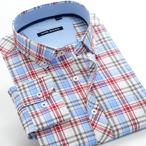 Image 2 - 5XL 6XL 7XL 8XL 9XL 10XL artı boyutu klasik erkek ekose gömlek iş rahat moda pamuk uzun kollu gömlek erkek marka giyim