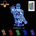 3D LED Night Light RGB Переменчивый Настроение Лампы Super Hero 3D LED Light DC5V USB Декоративные Настольные Лампы.